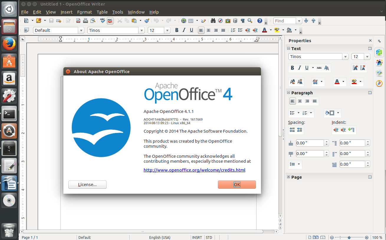 How to install Apache OpenOffice 4.1.1 on Ubuntu and Debian
