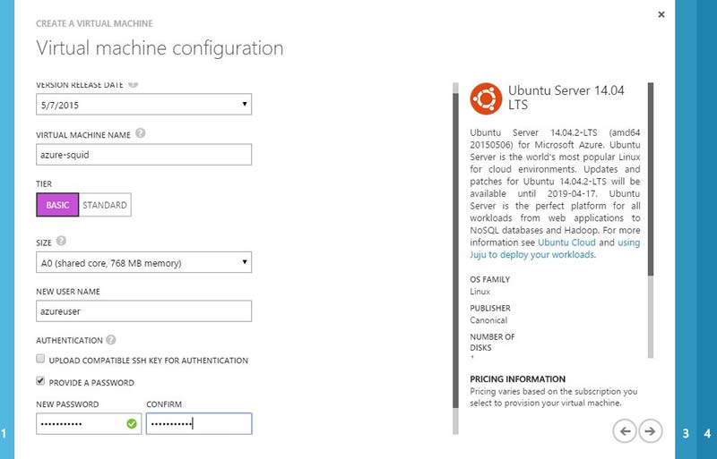 How to create your own squid proxy server with Azure